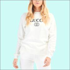 Felpa Bianca donna personalizzata logo Gucci - felpa girocollo