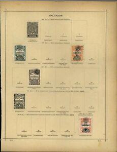 El Salvador Album Page Of Stamps #V13949