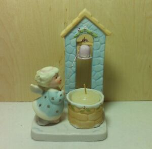 Vintage 1983 Pastel Pretties Yuletide Angel Candle Holder NOS