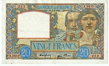 20 FRANCS 03 avril 1941 TRAVAIL ET SCIENCE FRANCE F.12.13 - TTB++