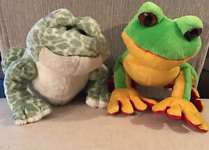 GANZ Webkinz Lot Of 2 Bullfrogs Spotted Frog Tree Frog Used