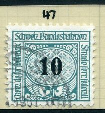 SWITZERLAND;  1913-30s early RAILWAY PARCEL stamp fine used  10c. Type  47