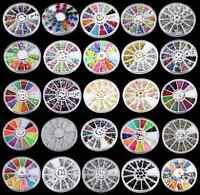 DIY Nail Art Rhinestones SHINE Glitters Acrylic Tips Decoration Manicure Wheel