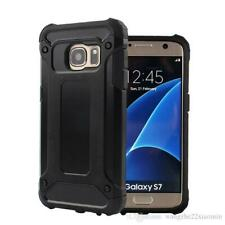 Hybrid Armor Shockproof Rugged Bumper Case For Samsung Galaxy S7 Edge Black
