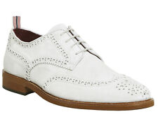 Mens Poste White Suede Lace Up Formal Shoes Size UK 10 *Ex-Display
