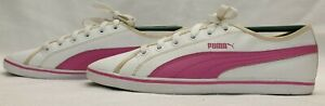 GENUINE Trainers Size 6 EU 39 White Pink Sneakers Shoes