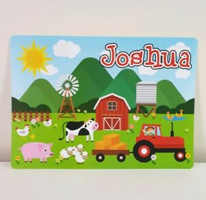 JOSHUA - Boys Name Personalized Placemat Childs Craft Mat ('JOSHUA' print only)