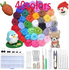 DIY Wool Needles Felt Tool Set + Needle Felting Mat Starter Kit Craft 40 Colour