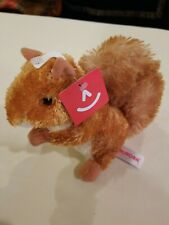 "Nutsie Mini Flopsie 8"" Aurora Plush Squirrel Nwt Free S/H"