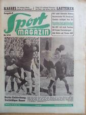 SPORT MAGAZIN KICKER 4A- 25.1. 1954 * 1.FCN-Fürth 1:1 Kickers-VfB Stuttgart 4:0
