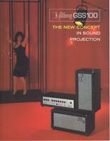 ORIGINAL Vintage 1960s Gibson GSS100 Amplifiers Catalog