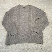 George Mens Knitted Jumper Large Grey Pullover