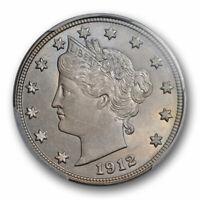 1912 D 5C Liberty Head Nickel PCGS MS 64 Uncirculated Denver Mint Tough