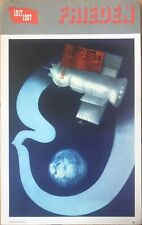 1987 Original vintage soviet Russian USSR  space race Gagarin Sputnik  Poster
