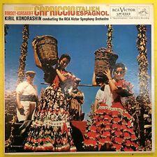 TCHAIKOVSKY LP Capriccio Italien Espagnol EX mono kondrashin rca