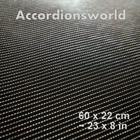Accordion Grille Lining PVC Mesh, Silver Black/Gaze fur Akkordeon Silber Schwarz