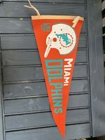 Vintage NFL Football 1967 Miami Dolphins Full Size Wall Pennant Flag