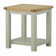 Padstow Painted Lamp Table / Solid Wood Cornish Stone Painted Side Table