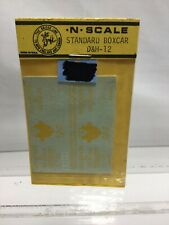 Northeast N Scale Decals ~ NOS ~ D&H-12 Standard Boxcar The Bridge Line YELLOW