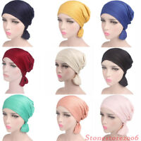 Women Chemo Cap Scarf Beanie Turban Head Wrap Islamic Abaya Hat Headwear Hijab
