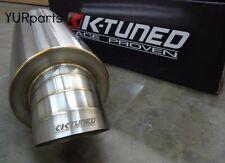 """K-Tuned Turndown Dolphin Tail Tip Stainless Steel Muffler 2.5"""" for Honda JDM"""