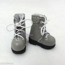 "16cm Lati Yellow Basic Bjd 12"" Neo Blythe Pullip Doll Shoes High Hill Boots GREY"