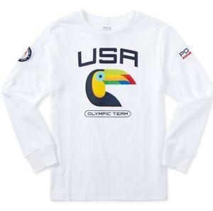POLO Ralph Lauren 2016 US Olympic Team Long Sleeve Graphic Tee Boys 5