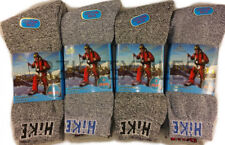 12 Pairs Of Men's Hike Socks, Thick Chunky Trekking Walking Work Boot Sock GREY