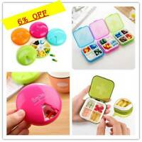 4 /7Slot Plastic Small  Cover Health Pill Case Travel Holder Pill Box Pill Case