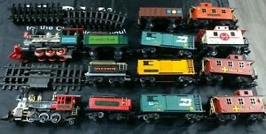 Various New Bright and Soho Toy G Scale Engines, Freight & Passenger Cars