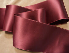"""2"""" WIDE SWISS DOUBLE FACE SATIN RIBBON --VICTORIAN ROSE"""