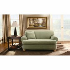 Sure Fit Stretch Stripe T-sofa cover  SAGE    2 pcs