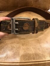 GENUINE FOSSIL SKINNY  AQUA LEATHER REVERSIBLE WOMENS LADIES BELT NEW IN