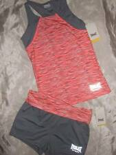 NWT ~ EVERLAST black w// pink long-sleeve active wear sports top ~ girls L 10 12