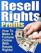 Diritti di rivendere i profitti. come fare una fortuna con diritti di rivendita