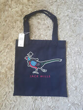 New Women's Jack Wills AMBLESHIRE BOOK BAG,Tote, Shopper, School, Beach NAVY