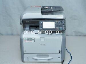 Ricoh MP 401SPF Mono Multifunction Laser Network Printer Low page at 27k