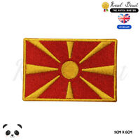 MACEDONIA National Flag Embroidered Iron On Sew On Patch Badge For Clothes etc