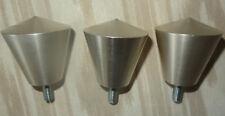3 Metallbett Schrank Möbelknopf Ø 50mm Edelstahl massiv Knopf mit Schraube Deko
