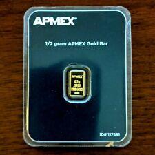 1/2 GRAM APMEX Gold Bar #117581 - Original Packaging