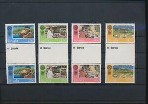 LN71973 Tuvalu 1983 communication year gutter pairs MNH