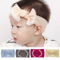 Bunny     Rabbit Elastic Hair Band Bows Turban   Baby Nylon Headband  Bowknot