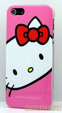 for iphone 5 5s cute hello kitty pink with bow hard back case cover skin
