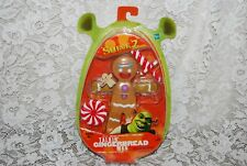 "2004 SHREK 2 Talking 6"" GINGERBREAD MAN~ GINGY Action Figure Hasbro MOC!"