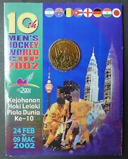 MALAYSIA 10TH MEN'S HOCKEY WORLD CUP 2002 COIN CARD