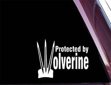 Protected by WOLVERINE - Comic Book - DIE CUT Decal  Sticker NOT PRINTED