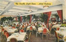 1947 New York Hotel Victoria interior furniture Colorpicture linen postcard 8728