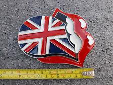 Nuevo diseño de labios lengua & los Rolling Stones hebilla de cinturón-Metal-Esmaltada