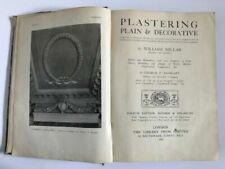 1927 PLASTERING PLAIN & DECORATIVE Book MILLAR ART CRAFT DESIGN Techniques Skill