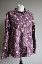 Cabela's Women L Paisley Heavy Cotton Flannel Chamois Snap-Front Work Shirt Peru